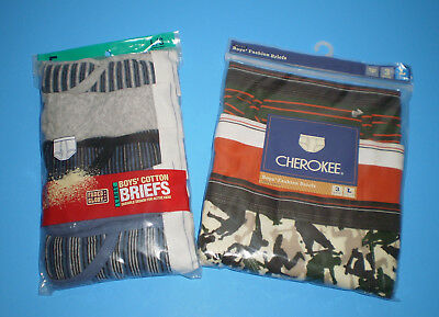 NEW Lot 5 + 3 = 8 Pairs of Boys L Cotton Briefs Blue Grey Green Orange