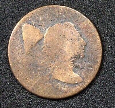1795 Liberty Cap Flowing Hair Large Cent - Cleaned -