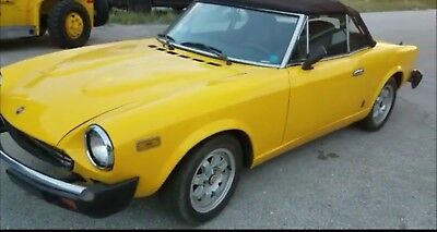 1981 Fiat 124 Spider CONVERTIBLE 1981 fiat spider no reserve auction !