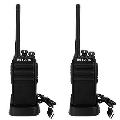 2x Walkie Talkie UHF 16CH USB Charger Retevis H-777 Amateur Radio+Cable UK Ship