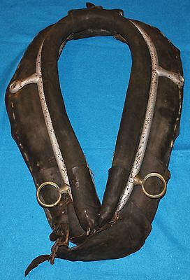Antique Horse Collar Yoke Harness Leather and Cloth