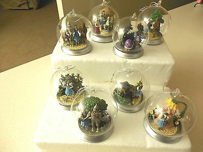 Complete Set Of 8 (See all Photos) Bradford Edition Wizard of Oz Globe Ornaments