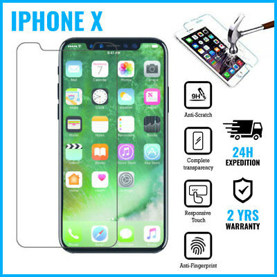 Screen Protector 9H LCD Protecteur Real Tempered Glass Film For iPhone X