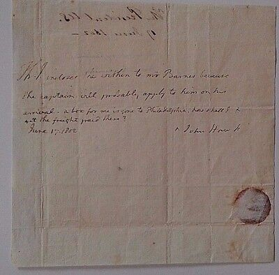Thomas Jefferson Authentic Original Signed Handwritten Letter  As President Coa