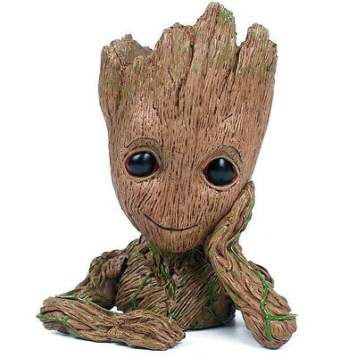 """Guardians of The Galaxy Vol. 2 Baby Groot 7"""" Figure Flowerpot Style Toy Gift"""
