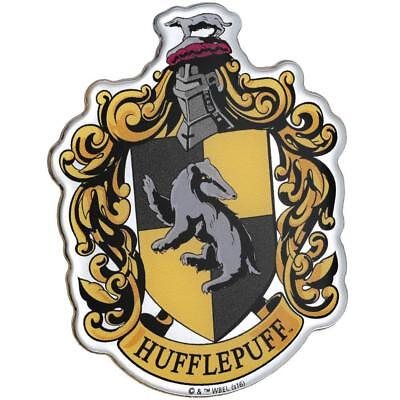 Harry Potter HUFFLEPUFF CREST PREMIUM Chrome Logo Sticker Decal