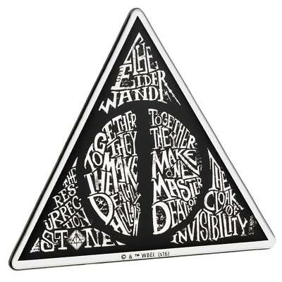 Harry Potter DEATHLY HALLOWS PREMIUM Chrome Logo Sticker Decal
