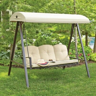 Outdoor Patio Backyard Garden Porch Swing Bench Seat Canopy Metal