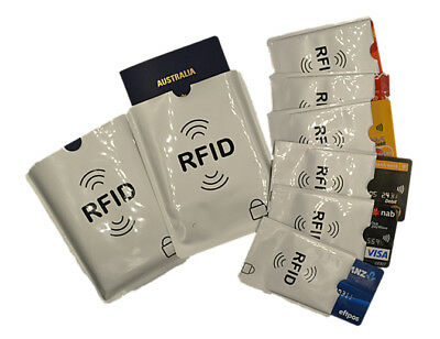 2x Passport and 6x RFID Blocking Sleeve Secure Credit Debit Card ID Protector