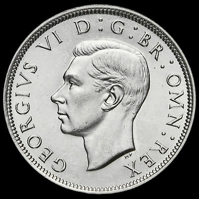 1938 George VI Silver Half Crown, Scarce, G/EF
