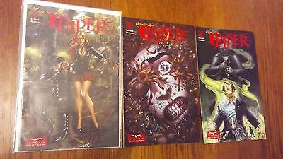 """""""The Piper"""" by Zenescope Comics lot #1, 2 and 4"""
