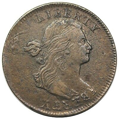 1797 Draped Bust Large Cent, S-130, double struck, 150° rotation, XF detail