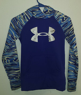 Girls Under Armour Storm Hoodie Sweatshirt Loose Blue Size Youth Small