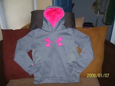Girl's Gray Under Armour Loose Storm Hoodie Size Youth L