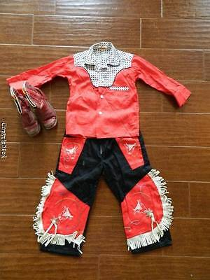 Lot VTG 50's Tommy Tucker cowboy outfit and PEE WEE shorty boots