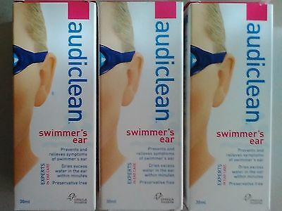 Audiclean Swimmer's Ear Ear Spray 30ml (3 Packs) - Omega Pharma