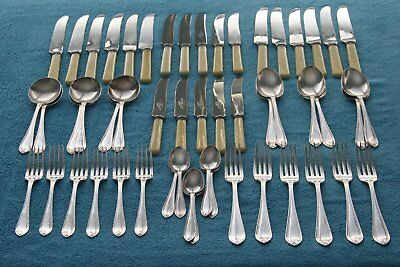 Vintage R F Mosely-Sheffield, Rusnorstain and silver plated cutlery set