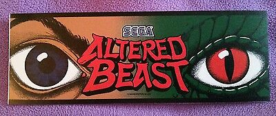 "Altered Beast arcade marquee sticker 3"" x 10.5"" (Buy 3 stickers, GET ONE FREE!)"