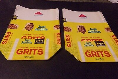 Vintage Lot 16 Aunt Jemima Grits Unused  Packaging Bags Quaker Oats w $.4 Coupon