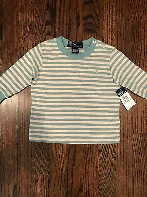NWT Polo by Ralph Lauren Long Sleeve Striped Shirt  6-12 Months