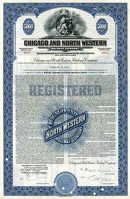 1939 Chicago & North Western RW Bond Certificate