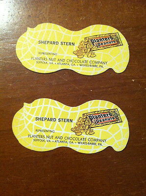 Planters Peanut Salesman Cards  (2) Mint Unused