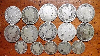 $3.00 Face Value in Barber coins - 1897-1916 - Nice Lot!!