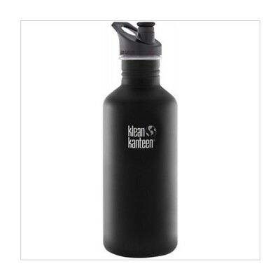 ✅NEW!! KLEAN KANTEEN  Stainless Steel Water Drink Bottle Black Sports Cap 1182ml