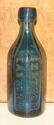 Rare Antique 8 Sided Seitz & Bro; Easton, Pa Premium Mineral Water Bottle