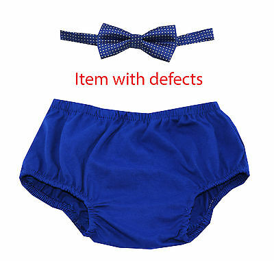 1st Birthday boy cake smash outfit bow tie bloomers 12 mo Royal Blue.SALE