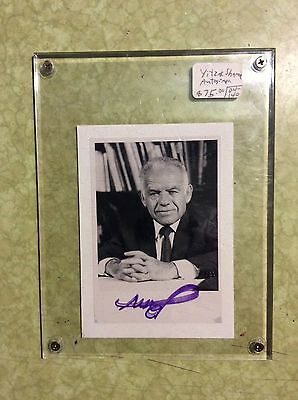 WOW L@@K Yitzhak Shamir Hand Signed Photo.7th Prime Minister Israel