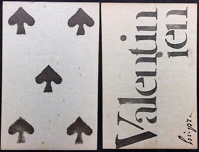 18th Century Authentic Historic Game Playing Cards Artisan Informative Single