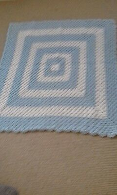 NEW Hand Knitted Crocheted Baby blanket