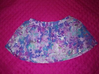 Girl's Size 18 Flowers Skirt with Shorts Attached Underneath by Justice