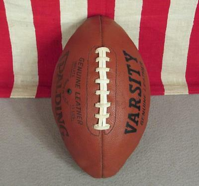 Vintage Spalding Varsity Genuine Leather Football w/ Laces Great Display Ball