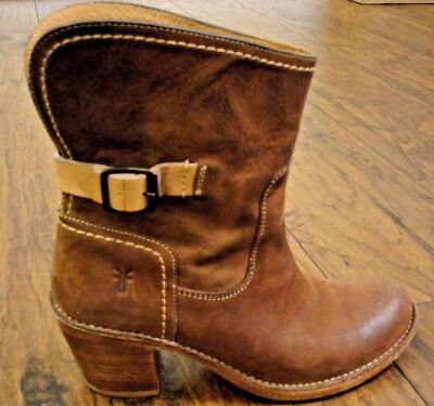 Women's Frye Short Western Brown Leather Boots Size 8.5 B