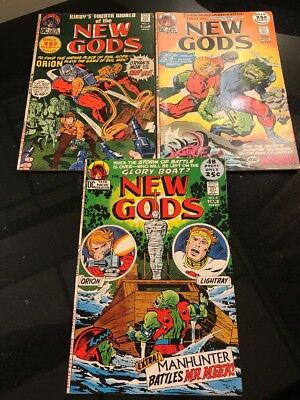 Lot Of 3 New Gods Kirby DC Comics 1971/1972 #'s 4 5 And 6 Nice!