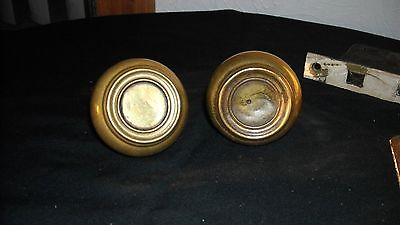 Vntg. Brass Door Knobs & Hardware, Yale, Locking Mechanism.  Takes a Skelton Key