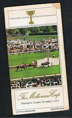 VRC MELBOURNE CUP RACEBOOK 1972. PIPING LANE. GUNSYND,BAGHDAD NOTE etc.
