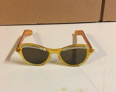 Vintage Bakelite sunglasses.cat Eye Orange/yellow Bike lite Color