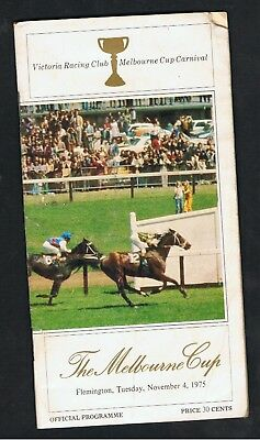 Vrc Melbourne Cup Racebook 1975.think Big Won The Cup.