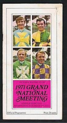 Horseracing Programme. 1971 Vrc Grand National Steeplechase Meeting.