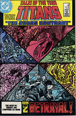 Tales Of The Teen Titans 43 NM- White Pgs - Judas Contract Book 2 Wolfman/Perez