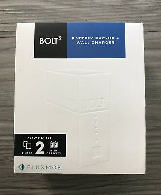 Bank Fluxmob Bolt2 6000mah Wall Charger For Iphone Android 2 Usb Ports