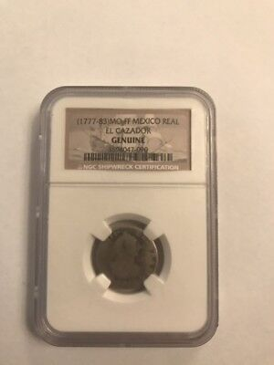 1777-83 MO FF Mexico Real Shipwreck Coin El Cazador; Genuine NGC
