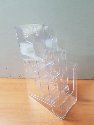 Acrylic 4 tier A4 1/3 sheet pamphlet holder brand new. HALF PRICE
