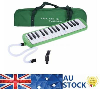 Green Piano Style 32-Key Melodica C Key with Carrying Bag for Kid Beginner X4D3