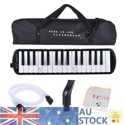 Black Piano Style 32-Key Melodica C Key with Carrying Bag for Kid Beginner N7K8