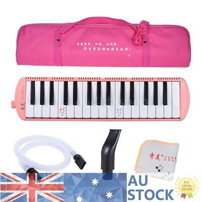 Pink Piano Style 32-Key Melodica C Key with Carrying Bag for Kids Beginners T6H2