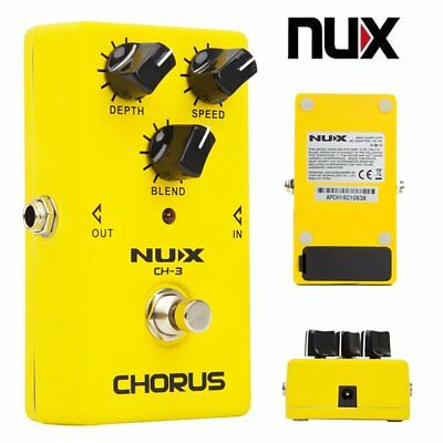 NUX CH-3 Chorus Electric Guitar Effect Pedal True Bypass Low Noise LED Indicator